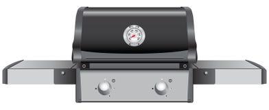 Griglia della Tabella con l'indicatore di temperatura Fotografie Stock