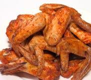 Griglia delle ali di pollo Fotografia Stock
