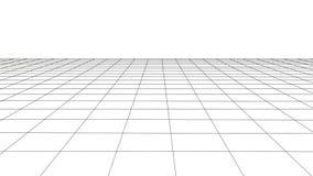 Griglia di prospettiva di vettore con le linee dettagliate illustrazione vettoriale