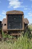 Griglia di un trattore di vecchio caso immagine stock libera da diritti