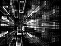 Griglia di vetro astratta - immagine digitalmente generata Fotografie Stock