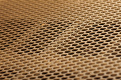 Griglia dorata del metallo Immagini Stock