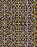 Griglia dorata di lusso con le stelle profilo e fondo scuro illustrazione vettoriale