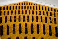 Griglia gialla arrugginita Immagine Stock Libera da Diritti