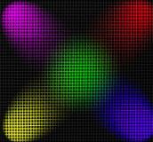 Griglia illuminata dai proiettori di colore Immagini Stock Libere da Diritti