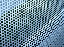 Griglia metallica perforata fotografia stock