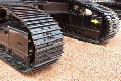 Griglia mobile girevole grigia e nera del metall dello zappatore Fotografia Stock Libera da Diritti