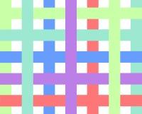 Griglia multicolore su un fondo bianco mosaico nello stile geometrico con la pendenza illustrazione vettoriale