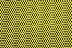 Griglia nera su fondo giallo Fotografie Stock Libere da Diritti