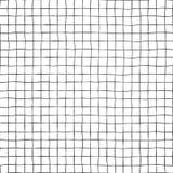 Griglia nera su struttura senza cuciture bianca del fondo di vettore Linee disegnate a mano di scarabocchio illustrazione di stock