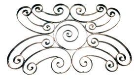 Griglia ornamentale del metallo isolata su bianco fotografia stock
