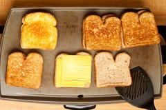 Griglia piana cotta del formaggio Immagine Stock Libera da Diritti