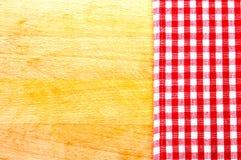 Griglia rossa e bianca del panno Fotografia Stock Libera da Diritti
