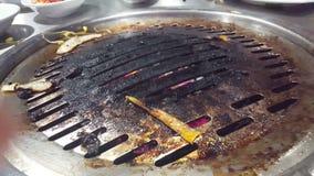 Griglia sporca del barbecue archivi video