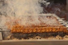 Griglia turca di kebab Immagini Stock