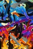 Griglia variopinta del cristallo di ghiaccio fotografia stock libera da diritti