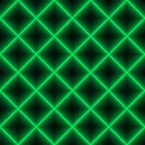 Griglia verde del laser del quadrato - fondo senza cuciture Immagini Stock Libere da Diritti