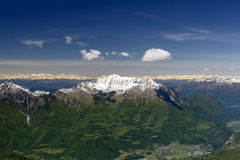 Grigna range from east, Orobie, Italy Stock Photography