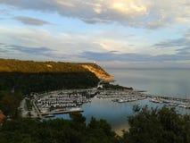 Grignano-Bucht Stockfotografie