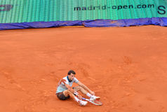Grigor Dimitrov au triphosphate d'adénosine Mutua Madrid ouvert Images stock