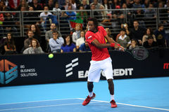 Grigor Dimitrov defeated Monfils in a demonstrative match in Are Stock Photo