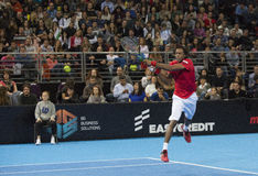 Grigor Dimitrov defeated Monfils in a demonstrative match in Are Royalty Free Stock Photography