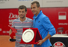 Grigor Dimitrov and Lukas Rosol Royalty Free Stock Image