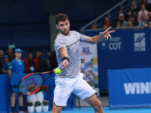 Grigor Dimitrov play on the court Stock Image