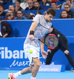 Grigor Dimitrov play on the court Royalty Free Stock Photography