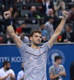 Grigor Dimitrov play on the court Royalty Free Stock Photos