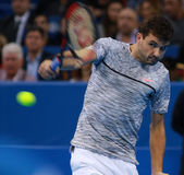 Grigor Dimitrov play on the court Stock Photos