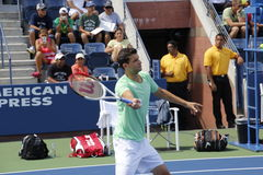 Grigor Dimitrov. Professional Bulgarian tennis player Grigor Dimitrov during his practice session at the 2013 US open tennis tournament Stock Image