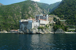Grigoriou. Monastery Grigoriou, Holy Mount Athos, Greece stock photography
