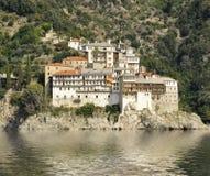 Grigoriou kloster på monteringen Athos Greece Fotografering för Bildbyråer