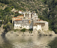 Grigoriou Monastery at Mount Athos Greece Stock Image