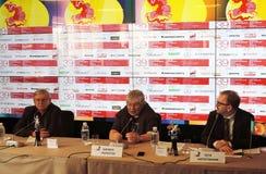 Grigory Libergal, Kirill Razlogov, Pyotr Schepotinnik stock photo