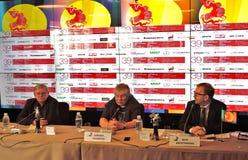 Grigory Libergal, Kirill Razlogov, Pyotr Schepotinnik Stock Images