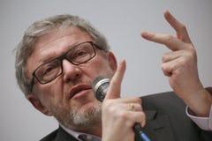 Grigory Yavlinsky ein Kandidat für den Posten Präsidenten der Russischen Föderation stockbilder