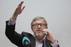 Grigory Yavlinsky ein Kandidat für den Posten Präsidenten der Russischen Föderation lizenzfreies stockfoto
