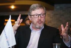 Grigory Yavlinsky um candidato para o cargo do presidente da Federação Russa foto de stock