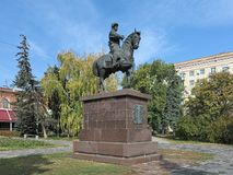 Grigory Zasekin monument in Volgograd, Russia Stock Photos