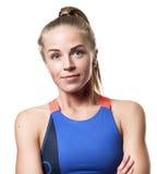 Grijnzend Blauw eyed blond meisje Royalty-vrije Stock Afbeelding