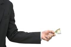 Grijpende dollarnota Royalty-vrije Stock Afbeelding