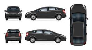 Grijs auto vectormalplaatje stock illustratie