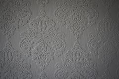 Grijs behangpatroon op een muur, het UK Royalty-vrije Stock Afbeelding