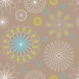 Grijs-blauw - groen-wit lineair naadloos patroon Vector illustratie Royalty-vrije Illustratie