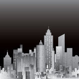 Grijs Cityscape Royalty-vrije Stock Afbeelding