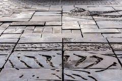 Grijs de textuurpatroon van de tegelsteen Royalty-vrije Stock Foto
