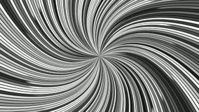 Grijs die hypnotic spiraalvormige strepen roteren - de naadloze grafiek van de lijnmotie stock videobeelden