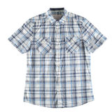 Grijs en blauw geïsoleerd overhemd Royalty-vrije Stock Foto